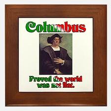 Columbus Day Framed Tile