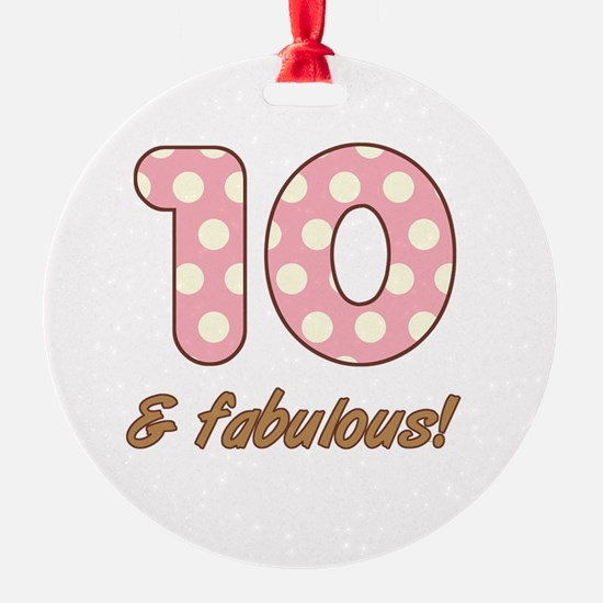 10th Birthday Dots Ornament