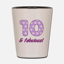 10th Birthday Dots Shot Glass