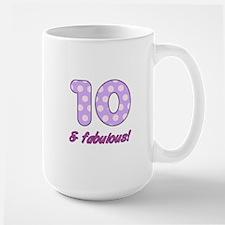 10th Birthday Dots Large Mug
