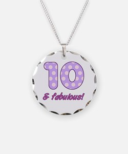 10th Birthday Dots Necklace