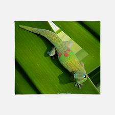 Rainbow Geckoe Throw Blanket
