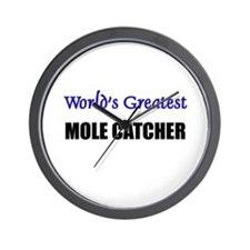 Worlds Greatest MOLE CATCHER Wall Clock