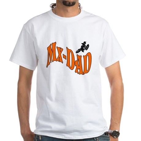 Mx-Dad Logo White T-Shirt