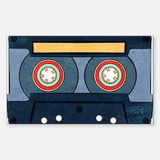 Blue Cassette Sticker (rectangle)