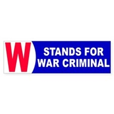 1 WAR CRIMINAL Bumper Bumper Sticker