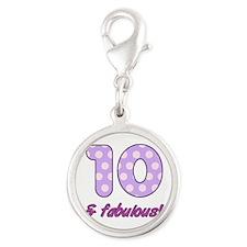 10th Birthday Dots Charms