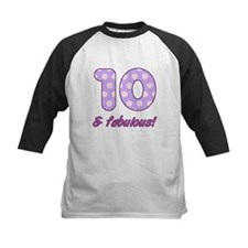 10th Birthday Dots Baseball Jersey