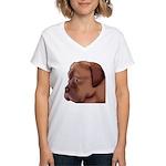 Dogue Art Women's V-Neck T-Shirt