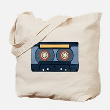 Blue Cassette Tote Bag