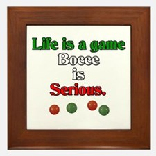 Bocce Is Serious Framed Tile