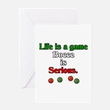 Bocce Is Serious Greeting Card
