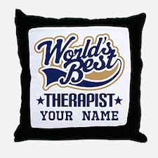 Worlds Best Therapist custom Throw Pillow