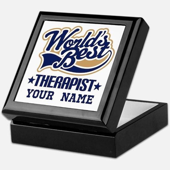 Worlds Best Therapist custom Keepsake Box