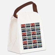 Cassettes Pattern Canvas Lunch Bag