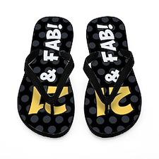 21st Birthday Dots Flip Flops