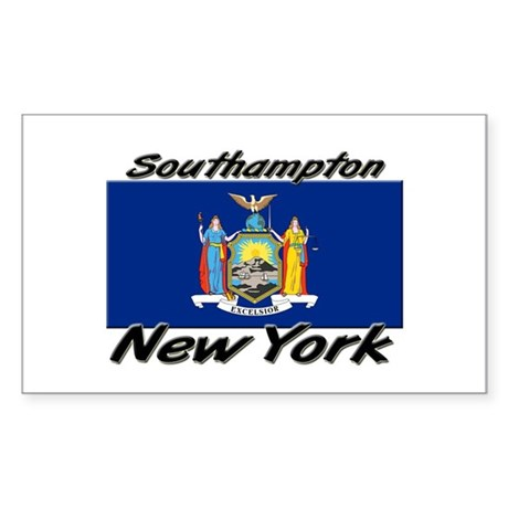 Southampton New York Rectangle Sticker