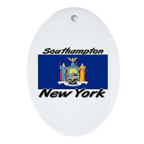Southampton New York Oval Ornament