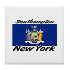 Southampton New York Tile Coaster