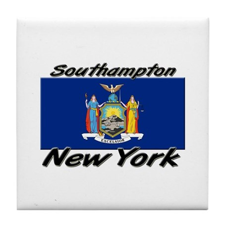 Southampton New York Tile Coaster