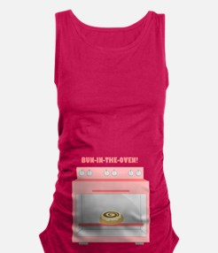 Bun In The Oven (pink) Maternity Tank Top