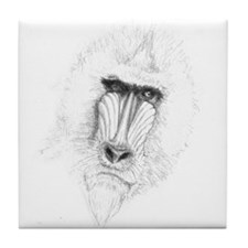 Mandrill Sketch Tile Coaster