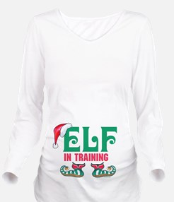 Elf In Training Long Sleeve Maternity T-Shirt