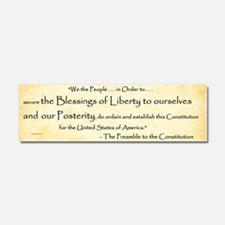 Constitution Preamble (excerpt) Car Magnet 10 X 3