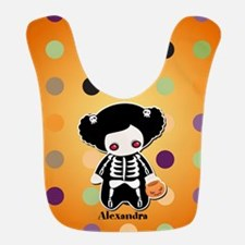 Halloween Skeleton Girl Bib