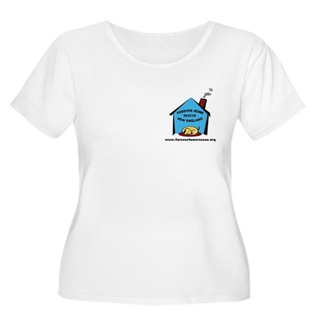 Forever Home Rescue Women's Plus Size Scoop Neck T