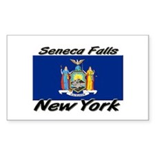 Seneca Falls New York Rectangle Decal