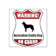 """Cute Australian cattle dog Square Sticker 3"""" x 3"""""""