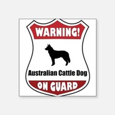 "Cute Australian cattle dog Square Sticker 3"" x 3"""