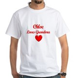 Chloe loves mom Mens Classic White T-Shirts