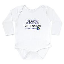 Cute Worlds greatest dad Long Sleeve Infant Bodysuit