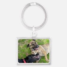 Laughing Dogs Landscape Keychain