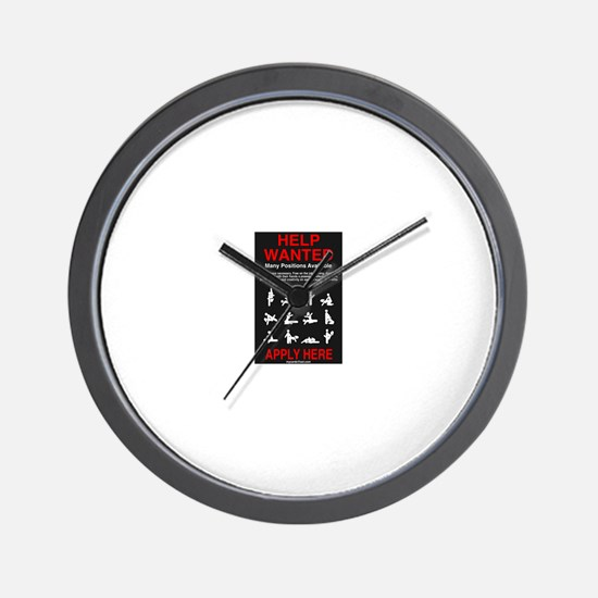 HELP WANTED... Apply Wall Clock