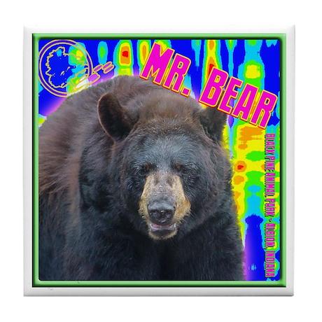 Mr. Bear Pop Art Tile Coaster
