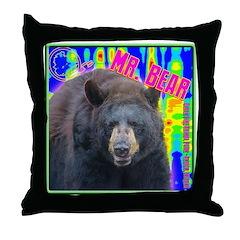 Mr. Bear Pop Art Throw Pillow