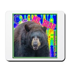 Mr. Bear Pop Art Mousepad