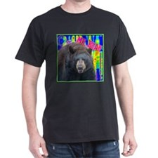 Mr. Bear Pop Art Dark T-Shirt