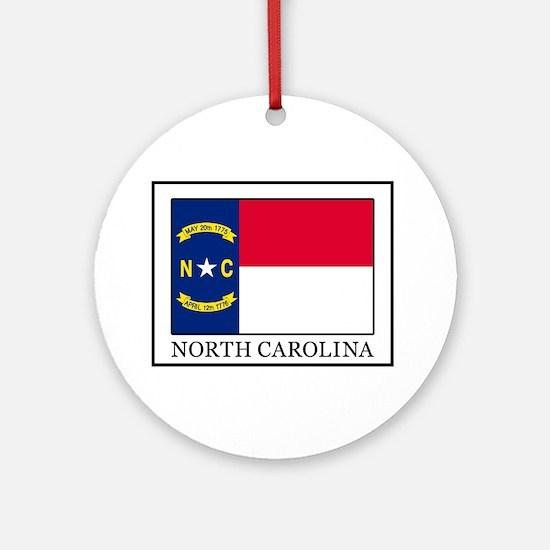 North Carolina Round Ornament