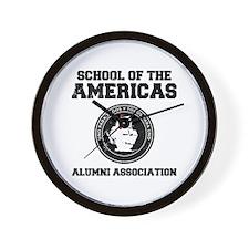 school of the americas Wall Clock