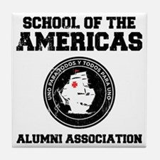 school of the americas Tile Coaster