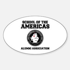 school of the americas Oval Decal