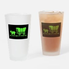 Funny Oregon trail Drinking Glass
