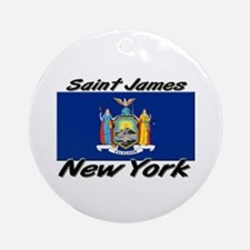 Saint James New York Ornament (Round)