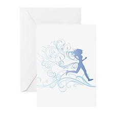 Cute Runner Greeting Cards (Pk of 10)