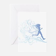 Unique Runner Greeting Cards (Pk of 10)