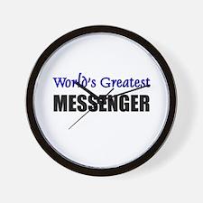 Worlds Greatest MESSENGER Wall Clock